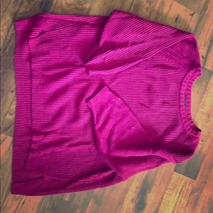 Burgundy 3/4 sleeves sweater